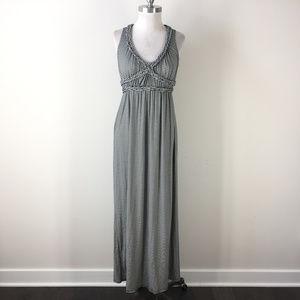 Max Studio XS Navy Blue White Stripe Maxi Dress